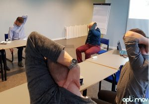 neck stretch ergonomics workshop Optimov