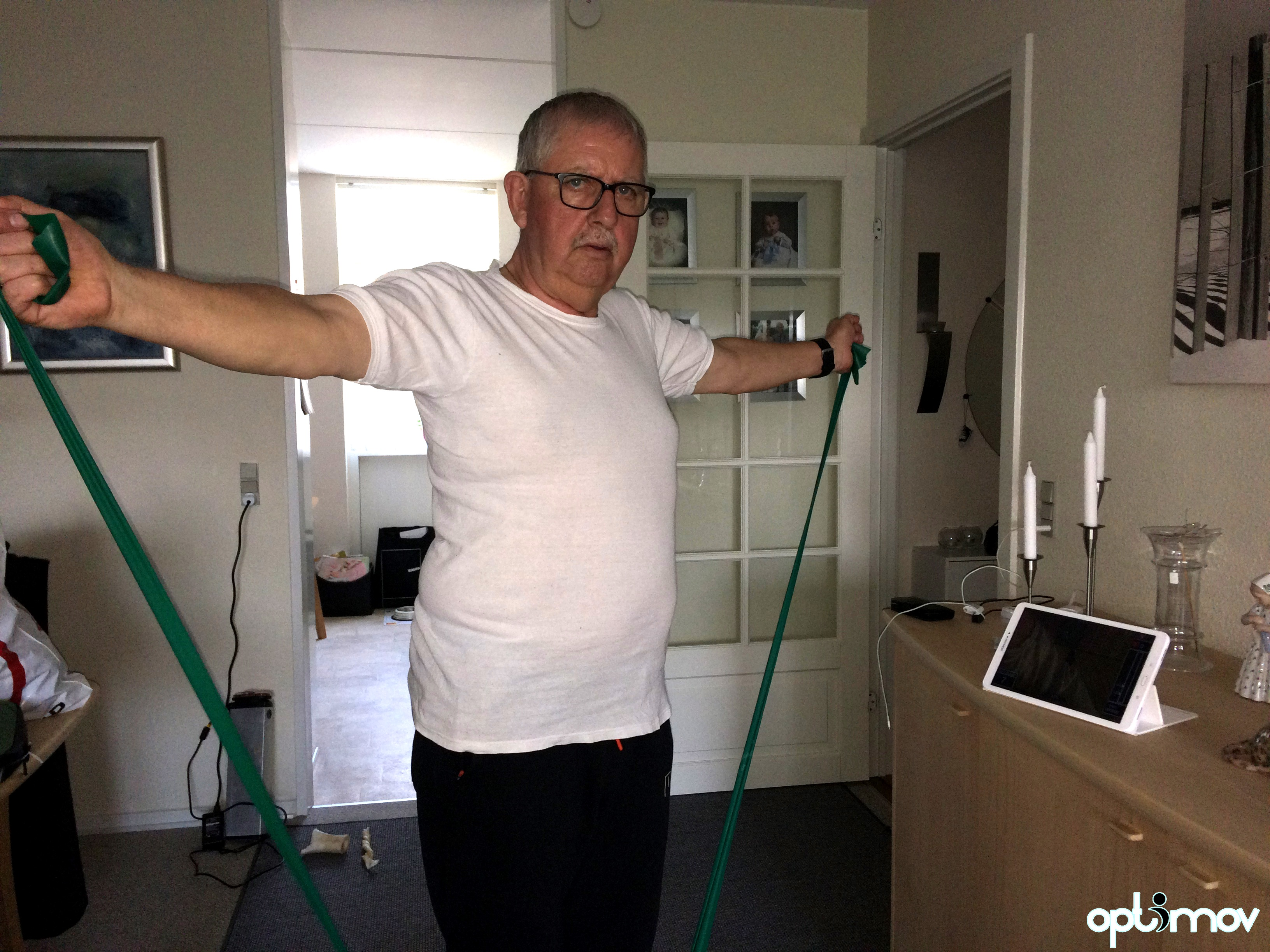 Optimover - Henry - training at home with the app